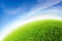 Orizzonte verde del pianeta Immagini Stock