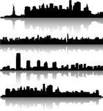 Orizzonti di New York City Immagini Stock