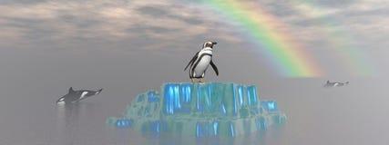 Orka i pingwin ilustracja wektor