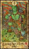 Orka Koning van koppen Stock Afbeeldingen