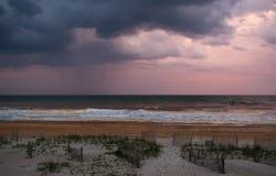 Orkaan in de Atlantische Oceaan Stock Afbeelding