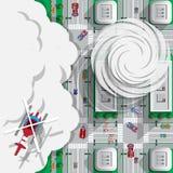 Orkaan in de stad stock illustratie