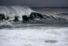 Orkaan Graaf Waves Royalty-vrije Stock Foto