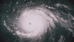Orkaan Irma op zijn manier aan de kust van Florida stock footage