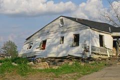 Orkaan Katrina Damange in Negende Afdeling Stock Foto's