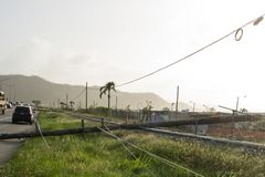 Orkaan Maria Damage in Puerto Rico Stock Afbeeldingen