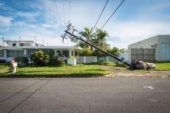 Orkaan Maria in Puerto Rico stock afbeelding