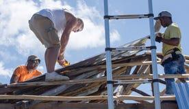 Orkaan Matthew Relief Work Stock Foto's
