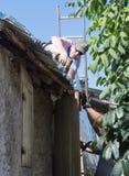 Orkaan Matthew Relief Work Stock Afbeelding
