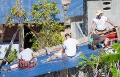 Orkaan Matthew Relief Work Royalty-vrije Stock Fotografie