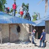 Orkaan Matthew Relief Work Stock Foto