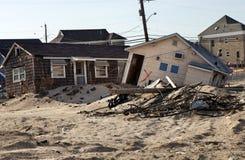Orkaan Sandy Damage Stock Foto