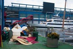 Orkaan Zandig in de Stad van New York Royalty-vrije Stock Afbeeldingen
