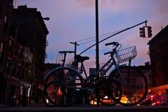 Orkaan Zandig in de Stad van New York Stock Foto