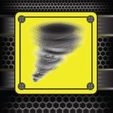 Orkaanwaarschuwingsbord Stock Foto's
