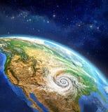 Orkan över jorden Stock Illustrationer