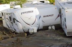 orkan irene vermont för berlin skadeflod Royaltyfria Bilder