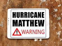 Orkan Matthew Royaltyfria Foton