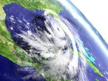 Orkan Matthew från omlopp stock illustrationer