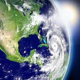 Orkan med soluppgång stock illustrationer