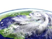 Orkan på jord vektor illustrationer