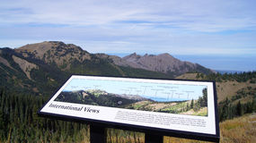 Orkan Ridge, olympisk nationalpark, WASHINGTON USA - Oktober 2014: En panoramautsikt på halvöbergen Fotografering för Bildbyråer