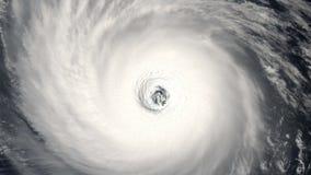 Orkanstormtromb, satellit- sikt Några beståndsdelar av denna video som möbleras av NASA stock video