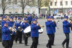 Orkest op een Parade stock afbeelding