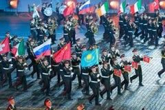 Orkest van de de militair-musicalschool van Moskou Stock Afbeelding