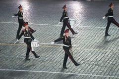 Orkest van de de militair-musicalschool van Moskou Stock Foto's