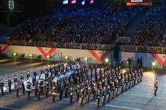 Orkest van de Militaire de Muziekuniversiteit van Moskou Suvorov Royalty-vrije Stock Fotografie