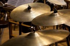 Orkester- cymbaler royaltyfria bilder
