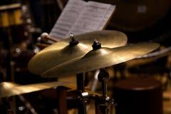 Orkester- cymbaler royaltyfria foton