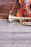Orkester- musikinstrument royaltyfri foto