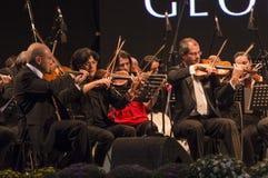 Orkesterconcerc Royaltyfri Fotografi