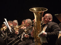 orkesteren utför symphonic szegedi Arkivfoto