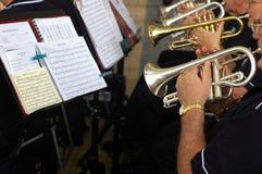 orkestergatatrumpet Arkivfoto