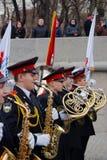 Orkestermusiker - trumpetare Fotografering för Bildbyråer