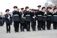 Orkestermusiker - trumpetare Royaltyfri Foto