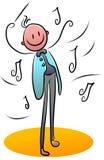 Orkestleider royalty-vrije illustratie