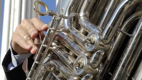Orkestrepetitie in openlucht stock videobeelden