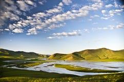 Orkhon flod, Kharkorin, Mongoliet Royaltyfria Foton