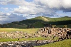 Orkhon idyllic landscape Royalty Free Stock Photos