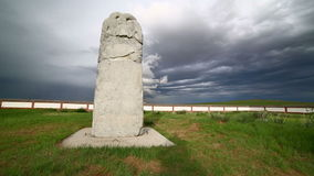 Orkhon inscriptions, oldest turkic monuments Stock Photography