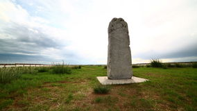 Orkhon inscriptions, oldest turkic monuments Stock Photo