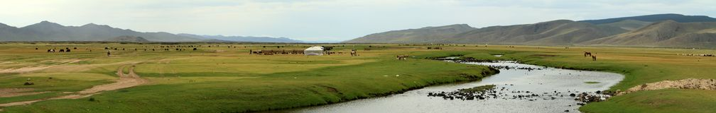 Orkhon Valley National Park Mongolia Royalty Free Stock Photo