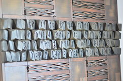 Orkhoninschrijvingen, Oud Turkic-alfabet royalty-vrije stock afbeeldingen