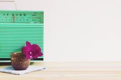 Orkidé och radio B Royaltyfria Bilder