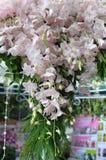 Orkidéblommagarnering Arkivfoto