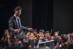 Orkiestra dyrygent zdjęcia royalty free